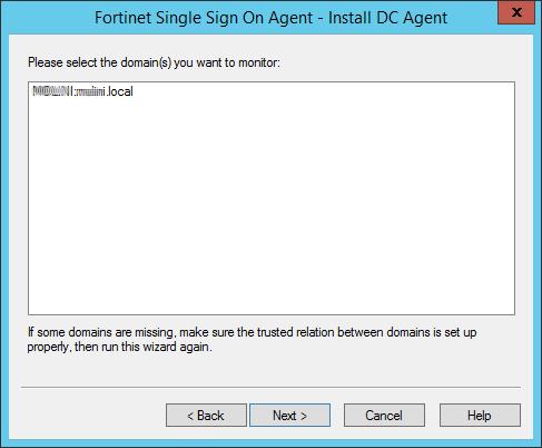 FSSO Agent Domain