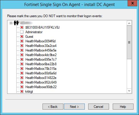 FSSO Agent Users