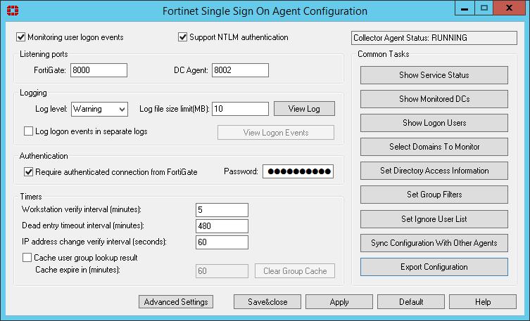FSSO Agent Configuration