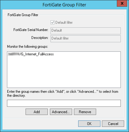 FSSO Group Filter