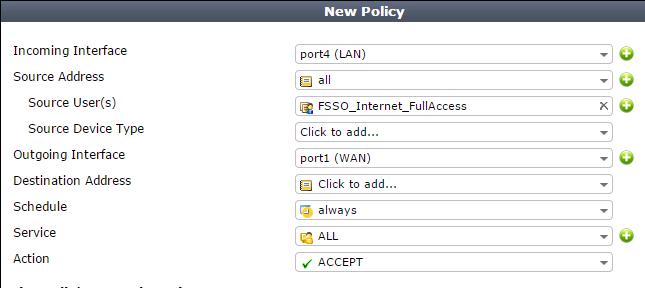 FortiGate Policy