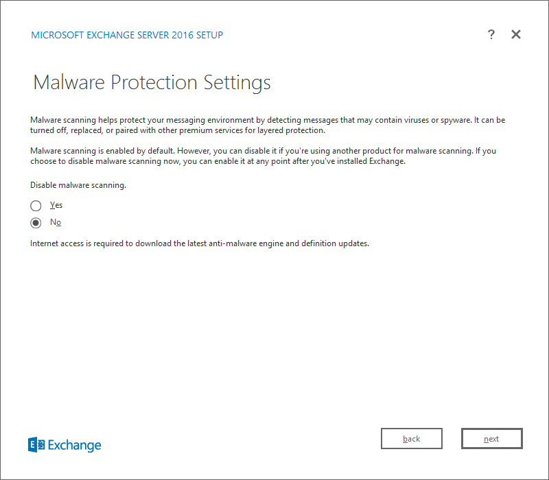 Malware Protection Settings