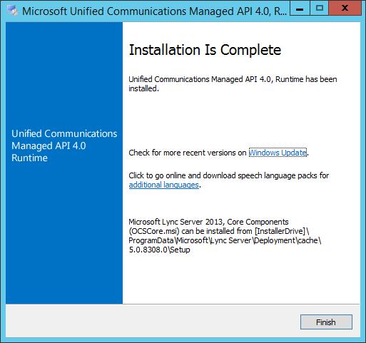 Microsoft Unified Communications Manager API 4.0