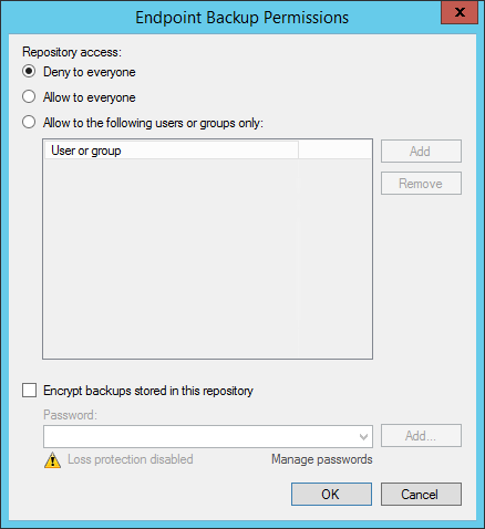 Endpoint Backup Permissions