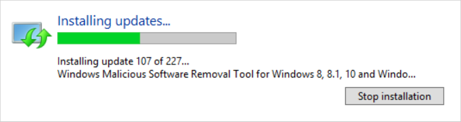 Installing updates...